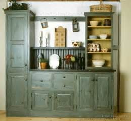 kitchen hutch cabinets a rustic country kitchen in the early american style