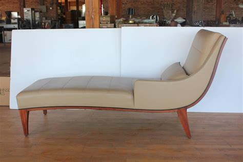 modern leather chaise longue modern leather chaise lounge by widdicomb for sale at 1stdibs