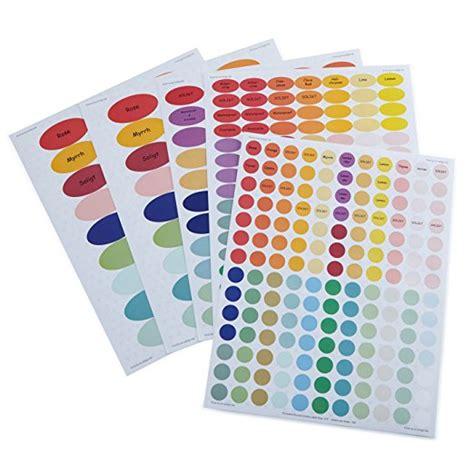 printable stickers waterproof rainbow pattern waterproof essential oil labels set blank