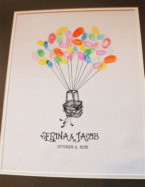 balloon fingerprint birthday card template 26 images of birthday fingerprint guestbook template