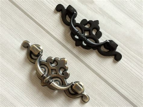 2 5 drop bail dresser pull drawer pulls handles black antique