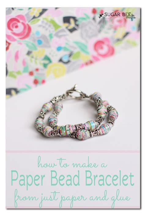 How To Make A Paper Bracelet - how to crackle paint with elmer s glue sugar bee crafts