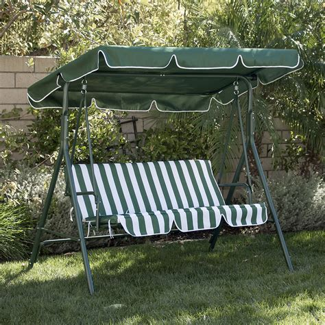 awning furniture 3 person patio swing outdoor canopy awning yard furniture