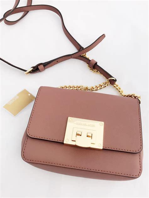 Mk Crossbody Baby Pink nwt michael kors tina mk mini small crossbody bag dusty pink chain ebay