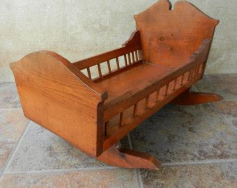 Handmade Wooden Crib by Antique 1920s Doll Crib Large Doll Bed Made Of White