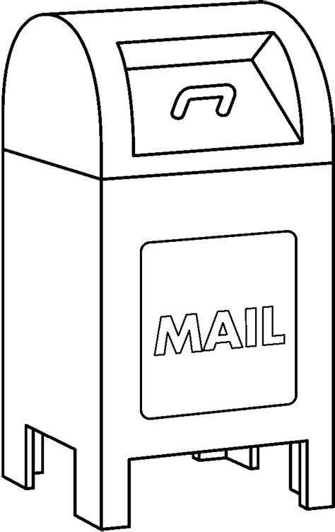 coloring pages of letter box free mailbox clipart pictures clipartix