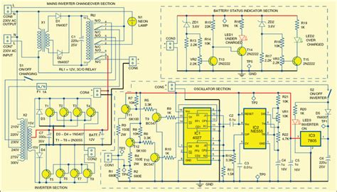 simple mini offline ups circuit diagram electronic