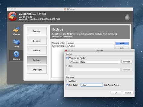 ccleaner for mac 1 08 softwarecrew software reviews ccleaner for mac 1 05 adds custom file and folder