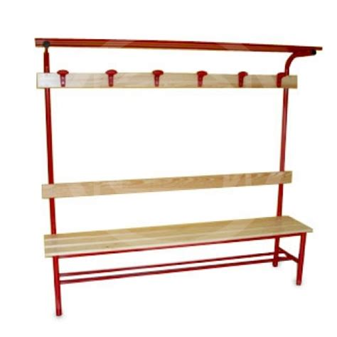 dressing bench locker room complete bench with coat hanger hat rack