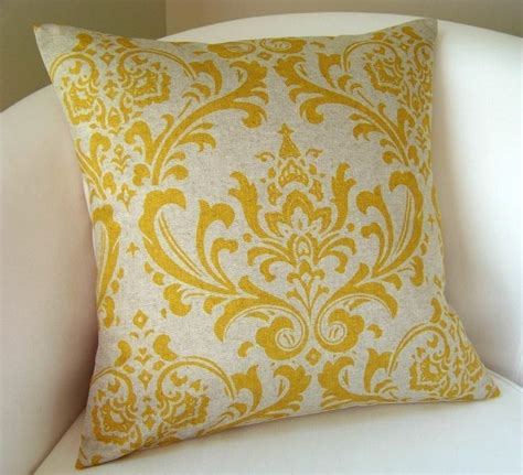 decorative pillow cover yellow on linen color accent