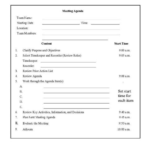 school team meeting agenda template best photos of sle meeting minutes agenda meeting