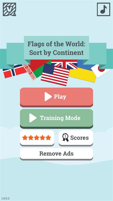 flags of the world learning game app shopper flags of the world sort by continent learn