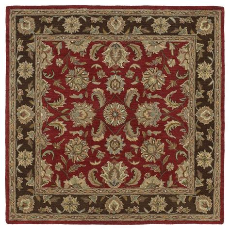 Square Area Rugs 9 X 9 Kaleen Tara Bermuda Salsa 9 Ft 9 In X 9 Ft 9 In Square Area Rug 7807 57 9 9 Sq The Home Depot