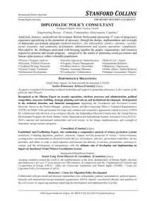 Physical Security Consultant Sle Resume by Diplomatic Policy Consultant Resume