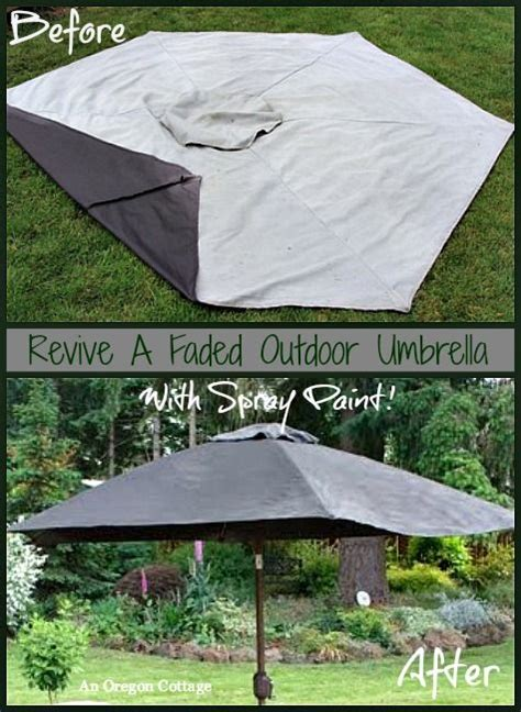 Paint Patio Umbrella How To Paint A Faded Outdoor Umbrella Outdoor Living Sprays And Umbrellas