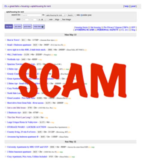 housing scams on craigslist craigslist rental scams continue in great falls mt homes apartments and condos for