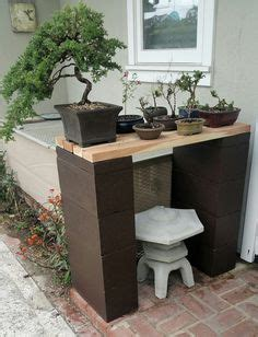 bonsai display bench picture 4 now my bonsai display bench is finished my