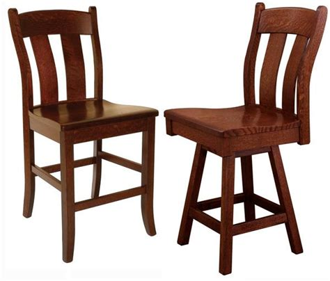 Amish Oak Bar Stools by This Amish Dual Slat Back Dining Back Bar Stool Furniture
