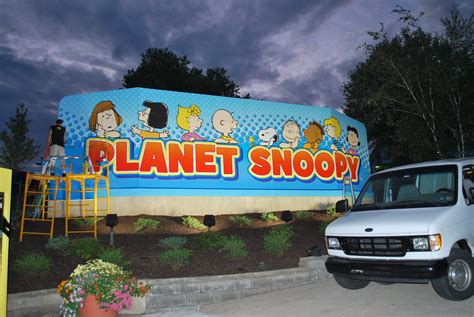 Automotive Wall Murals dorney park planet snoopy wall mural graphic install