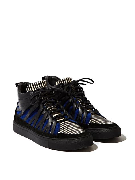 damir doma sneakers damir doma mens low layered fune sneakers in blue for