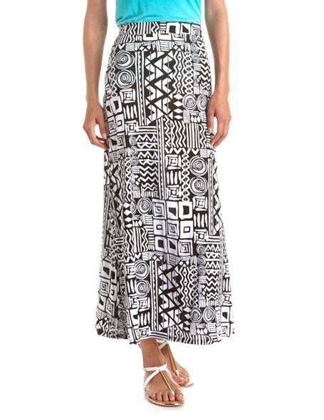 aztec print maxi skirt russe