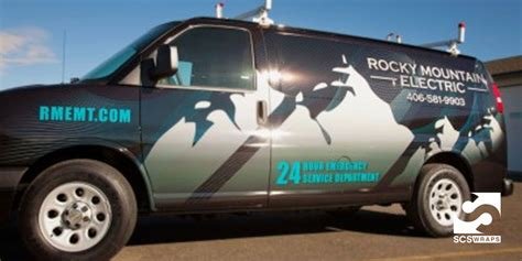 Boat Wall Stickers rocky mountain electric van wrap 183 scs wraps