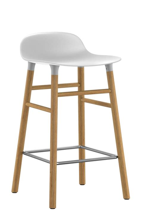 form bar form bar stool h 65 cm oak leg white oak by normann