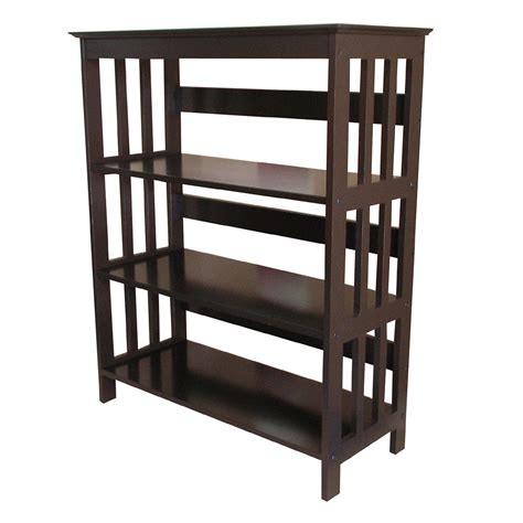 ore international 36 quot 3 tier bookcase espresso by oj