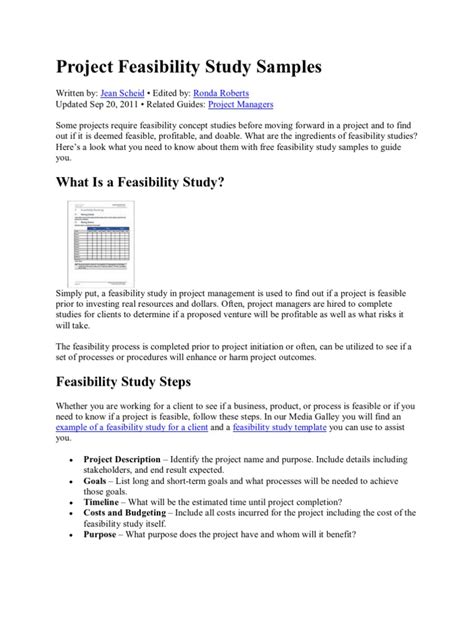 sle feasibility study report pdf project feasibility study sles feasibility study waste