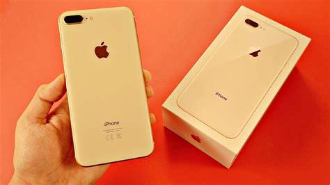 iphone 8 plus gold unboxing look vs 7 plus