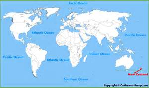 Where Is New Zealand On A World Map new zealand location on the world map