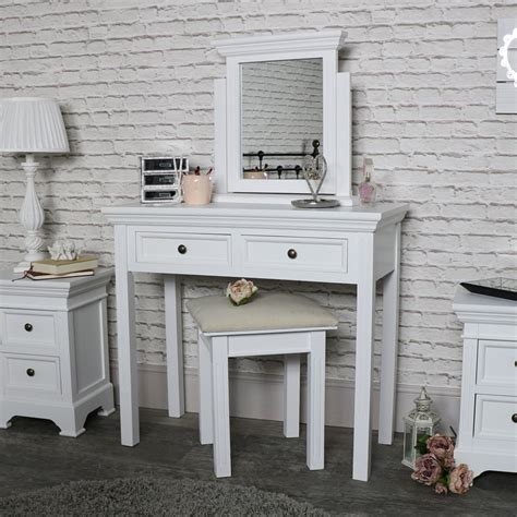 white table set white dressing table mirror and stool set daventry