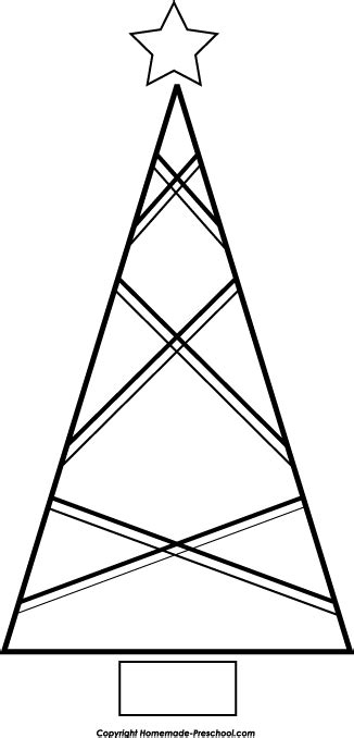 triangle template for christmas tree free tree clipart