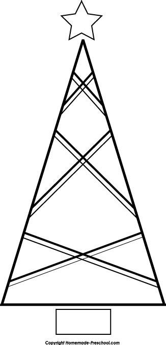 Free Christmas Tree Clipart Triangle Tree Template