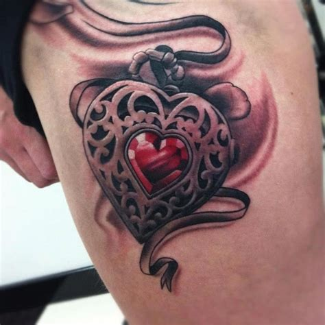 tattoo realistic heart realistic red heart locket side torso tattoo tattoo designs