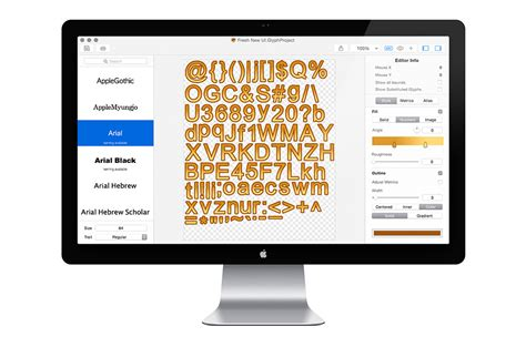 typography generator for mac glyph designer a bitmap font generator for mac 183 71squared