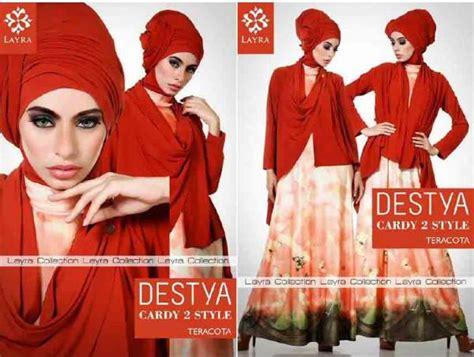 Dress Gamis Jersey Motif Kupu Kupu destya by layra teracotta baju muslim gamis modern