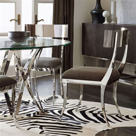 bernhardt dining room table and chairs bernhardt interiors gustav metal side chair argent
