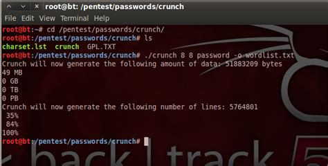 kali linux crunch tutorial kali linux hacking how to create a wordlist with crunch