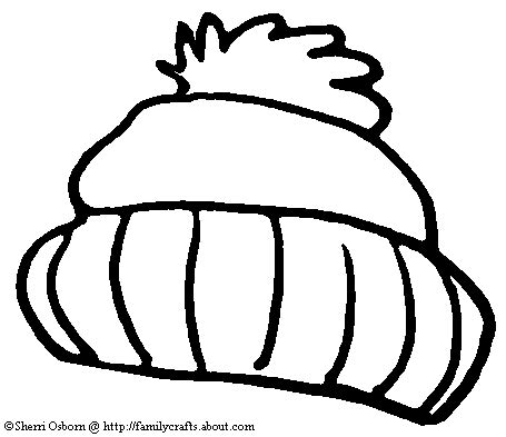 snow hat coloring page winter hat outline clipart clipart suggest