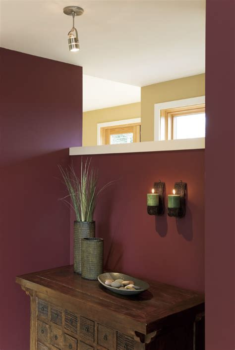 Burgundy Bathroom Wall Color Of The Month Decorating With Burgundy Abode