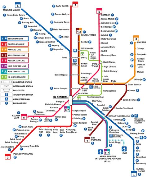 Ktm Lrt Route Lrt Monorail Mrt Announcements And Signage At The