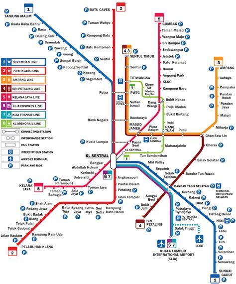 Lrt Monorail Ktm Map Rail Services To Klia2 Klia Ekspres Klia Transit