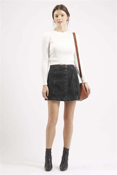 the 25 best black denim skirt ideas on black