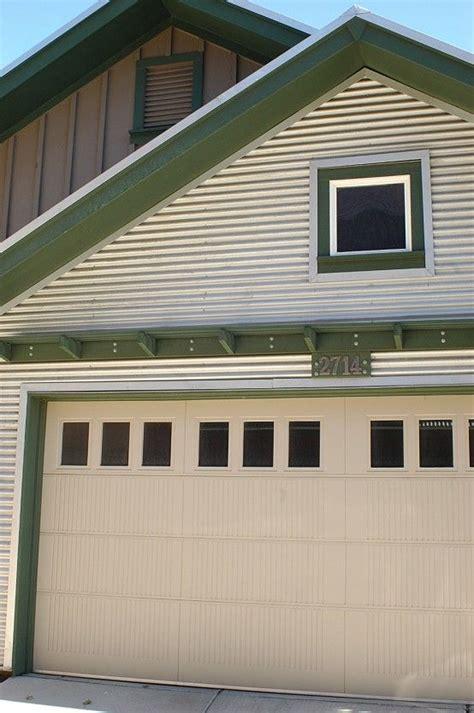 Corrugated Metal Siding Garage Google Search Garage Exterior Garage Door Trim