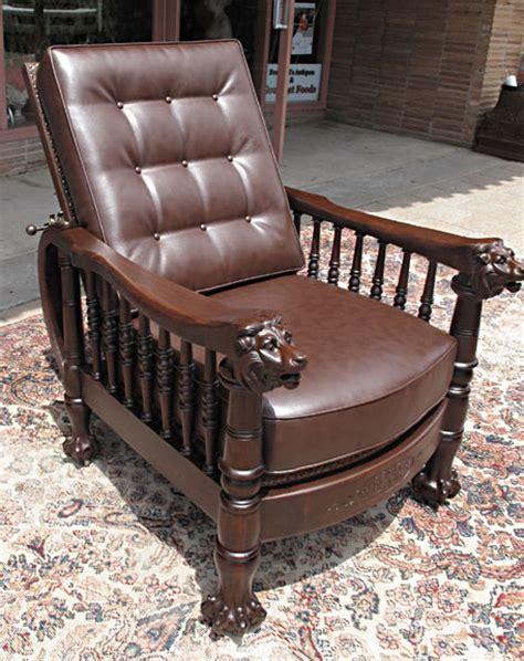 Bradford Dining Room Furniture cherry lion headed clawfoot morris chair