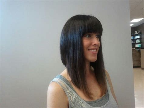 long inverted bob with a dramatic angle minimal stacking 14 best images about haircut ideas on pinterest thick