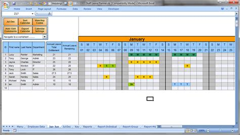 employee leave schedule template the staff leave calendar a simple excel planner to manage
