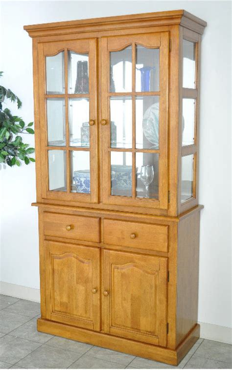 Unfinished Dining Room Chairs by Buffet China Cabinet China Cabinets And Curios Oak China