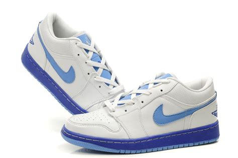 low air 1 white light blue shoes on cheap sale